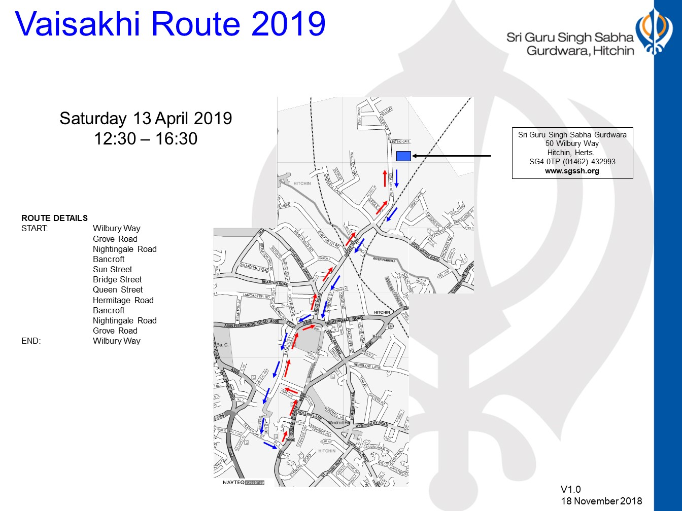 Vaisakhi Route April 2019